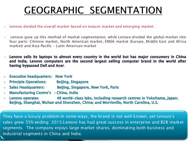 geographical segmentation of dell The report covers information about the market segmentation by end users technavio's report, federal it market in the us 2015-2019 dell hp ibm.