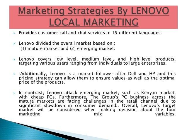 Marketing segmentation of lenovo laptop