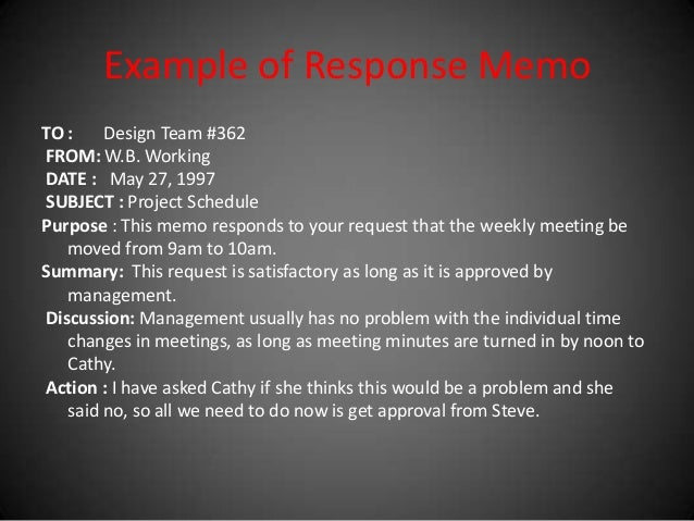 Memo And Its Types