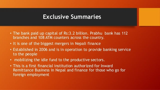 financial institution operation in nepal Nepal bank ltd remained the only financial institution of the country until  bank,  nepal bank has to play the role of central bank and operate.