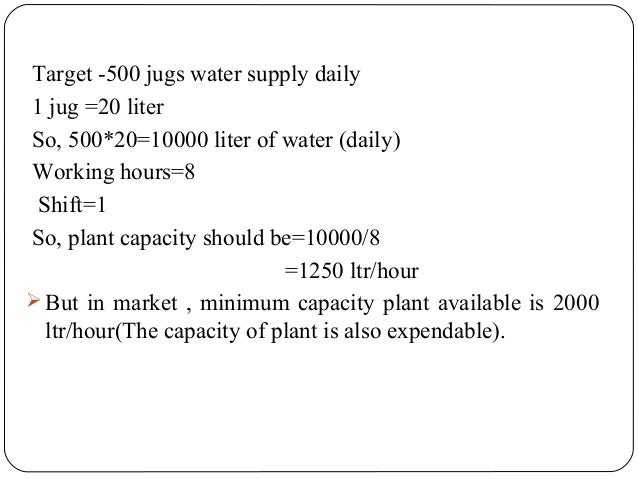 Presentation on mineral water plant