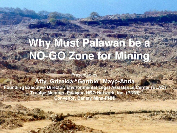 Why Must Palawan Be A NO-GO ZONE For Mining - Save Palawan Movement Ms Gina Lopez