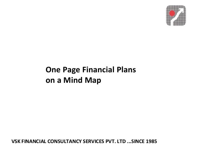 VSK FINANCIAL CONSULTANCY SERVICES PVT. LTD ...SINCE 1985 One Page Financial Plans on a Mind Map