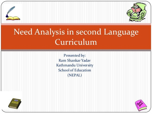 presentation on need analysis in second language curriculum