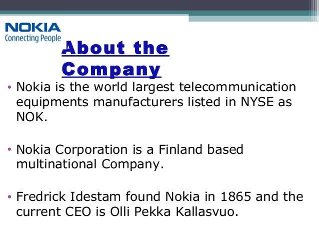 Presentation on nokia Slide 3