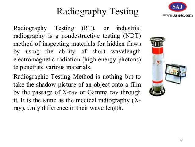 Ndt radiographic testing ppt