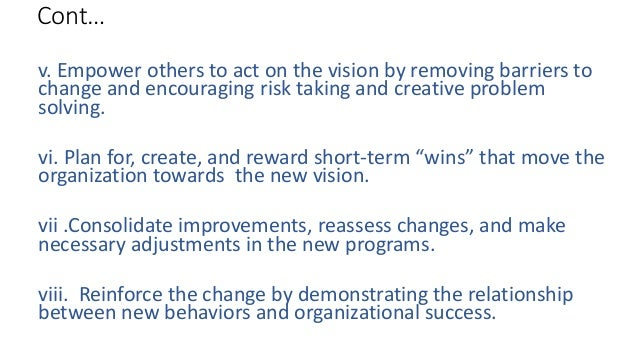 demonstrating the relationship between new behaviors and organizational success
