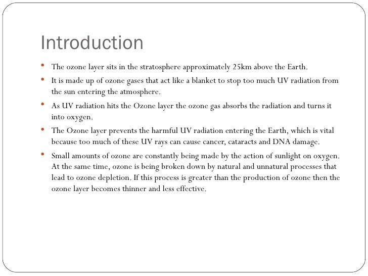 Free Essays on Ozone Depletion