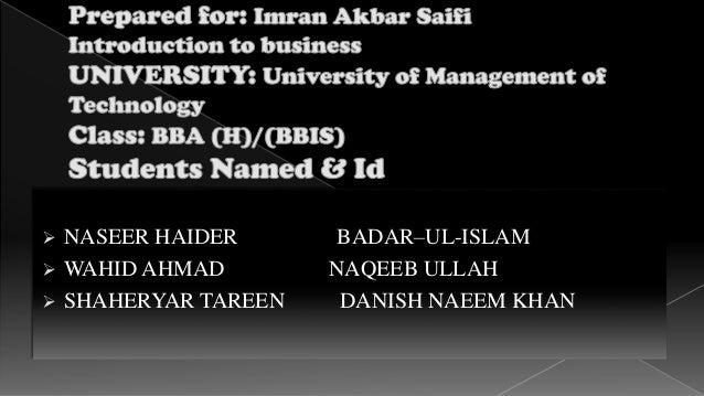  NASEER HAIDER BADAR–UL-ISLAM  WAHID AHMAD NAQEEB ULLAH  SHAHERYAR TAREEN DANISH NAEEM KHAN
