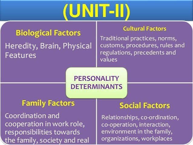 factors that influence personality development What factors influence a career choice relatively new field of career development as you read through the factors below system that matches personality.