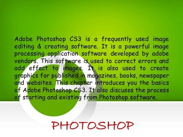 Presentation on Adobe Photoshop