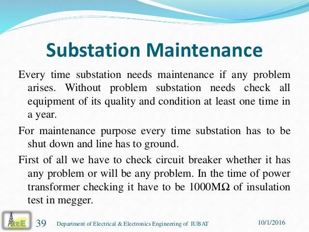 presentation on power distribution operation and maintenance in comi rh slideshare net Substation Maintenance Services Substation Maintenance Kajaki Dam
