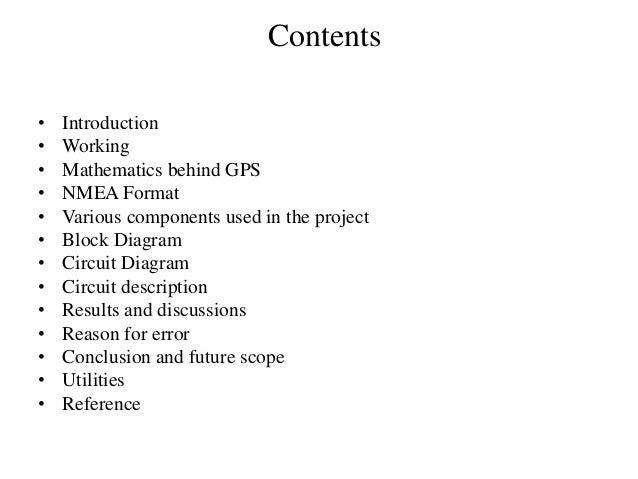 Presentation on progress report of final year project(gps