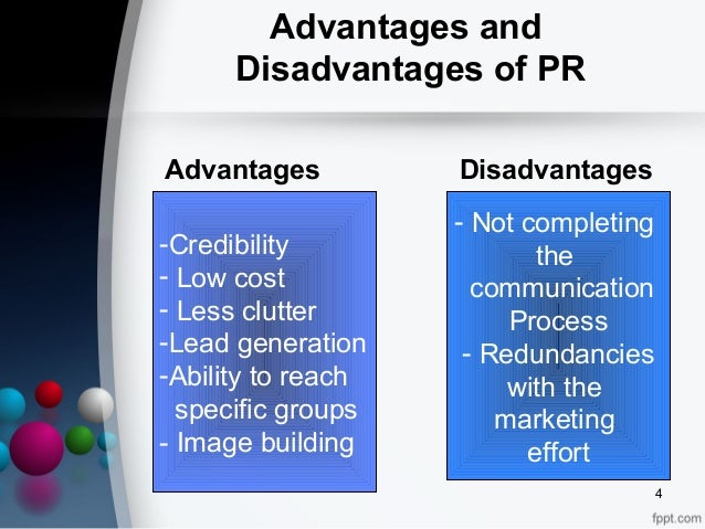 advantages and disadvantages of public relations in society Top 11 advantages and disadvantages of privatization privatisation benefits society in several ways the fact that privatization and important strategy of economic rejuvenation of even the communist nations is a testimony to the economic role of privatization.