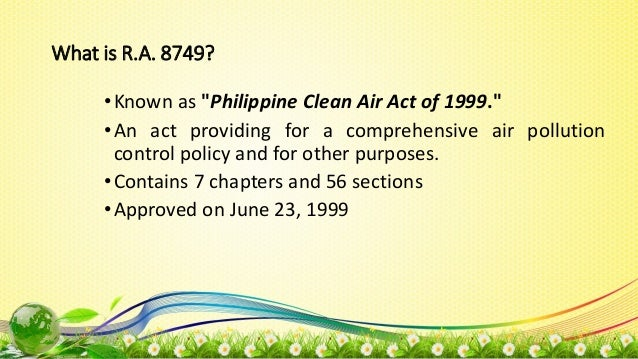 provisions of clean air act
