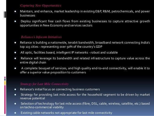 Reliance industries analysis