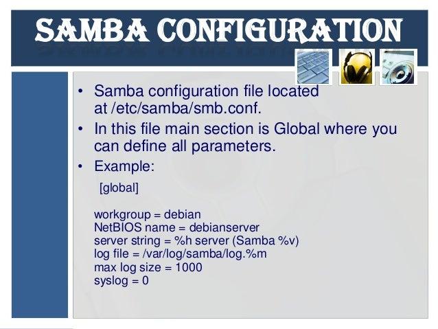 Presentation on samba server