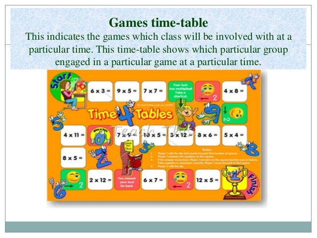 principles of school time table