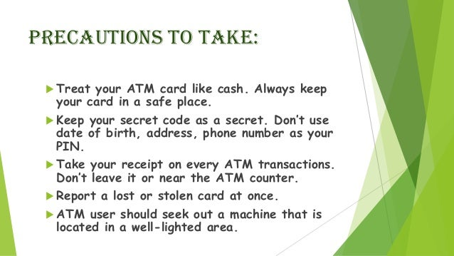Presentation on security feature of atm (2)