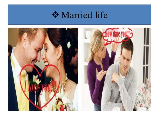 Married life vs dating