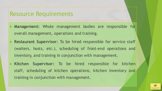 Restaurant Kitchen Requirements