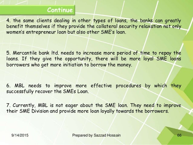 sme banking of mbl Of sme loan management of mercantile bank ltd, khulna branch however, the   figure 5 reveals that twenty one respondents strongly agree that mbl will get.
