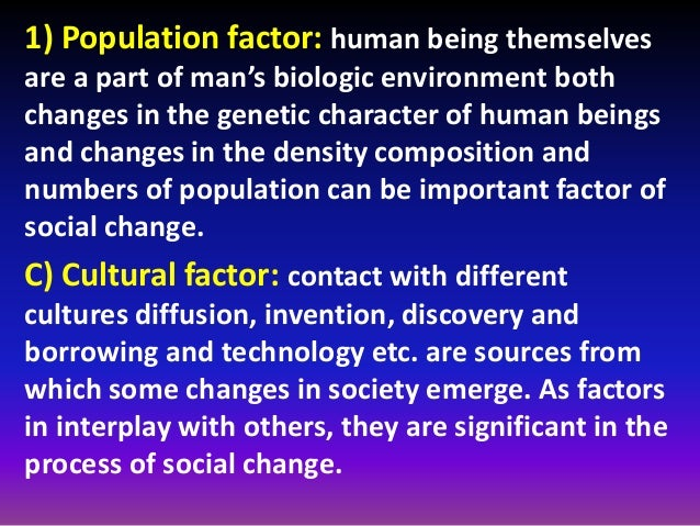 Factor contributes to diffusion of human society?
