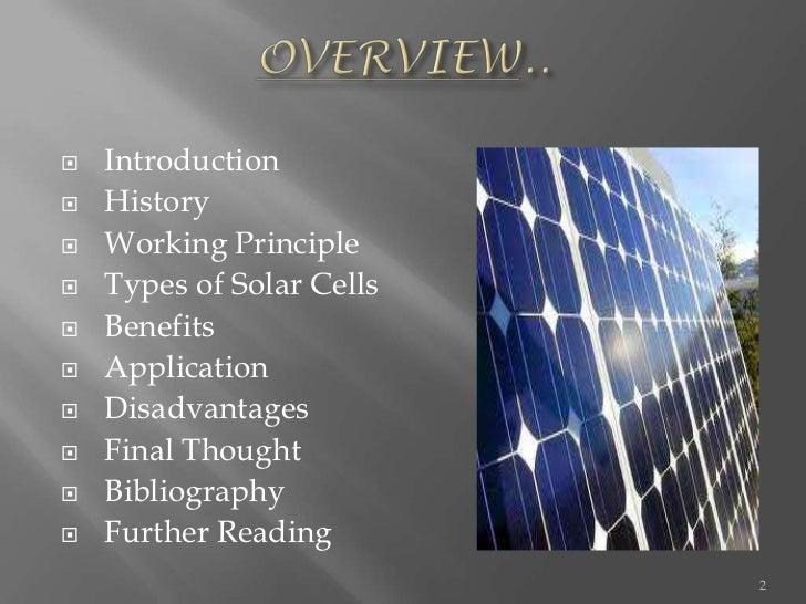 Presentation on solar cell Slide 2