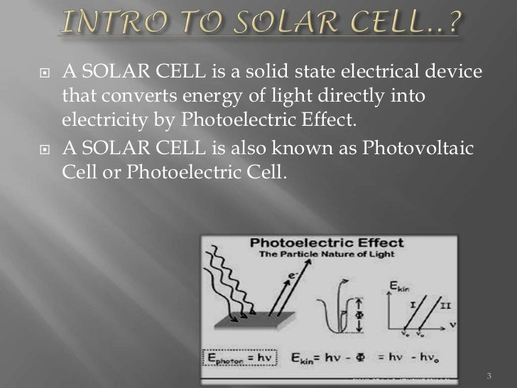 Presentation on solar cell Slide 3