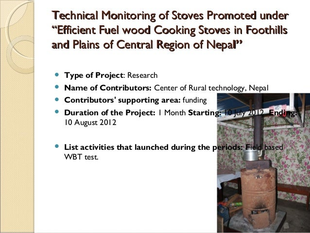 4  Presentation on standards and testing of cook stoves