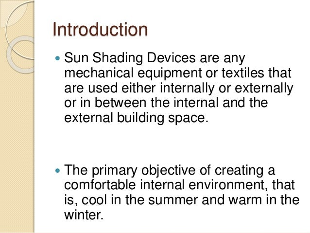 Sun Shading Devices Slide 2