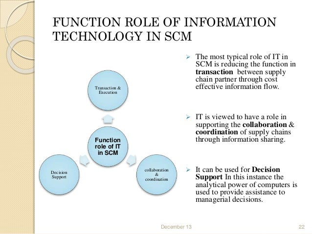 role of information technology in supply chain of fmcg The technology can reveal hitherto hidden information and allows users  of rigid  supply chains, resulting in more efficient resource use for all.