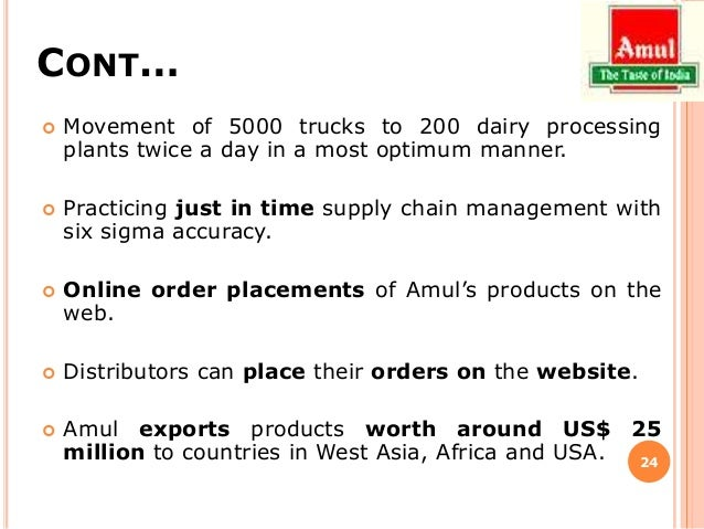 "amul supply chain essay ""the systematic study of amul marketing - any food company requires a dedicated cool chain network amul boasts of the first and foremost is the supply chain."