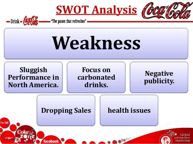 strength weaknesses coca cola Our journey focuses on leveraging these strengths to become a truly  the coca -cola company's extraordinary heritage, our leading brands and the global.