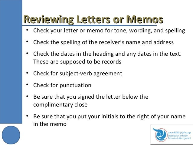 Presentation On Taking Notes Writing Letters And Memo