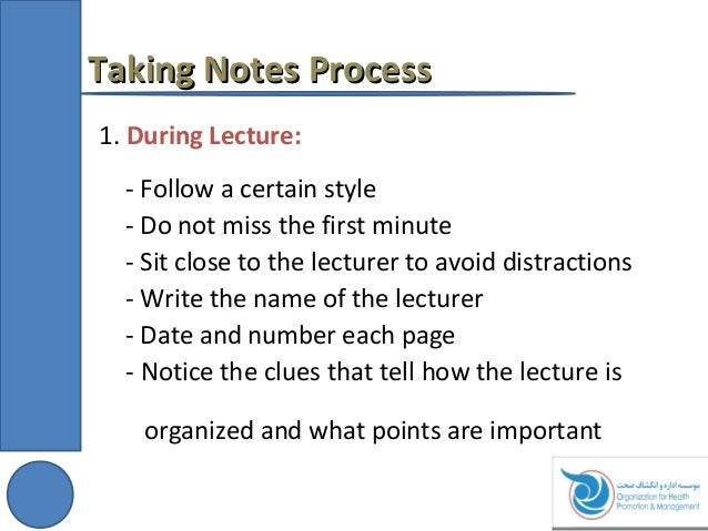 Presentation On Taking Notes, Writing Letters And Memo