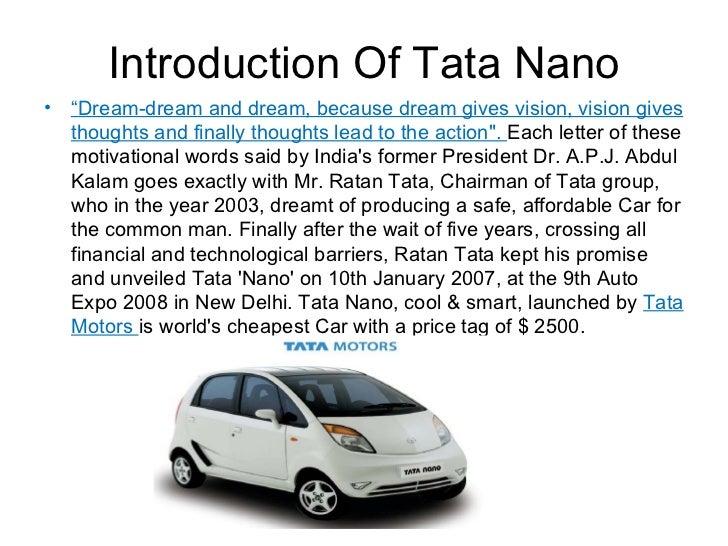 Tata nano case analysis essay