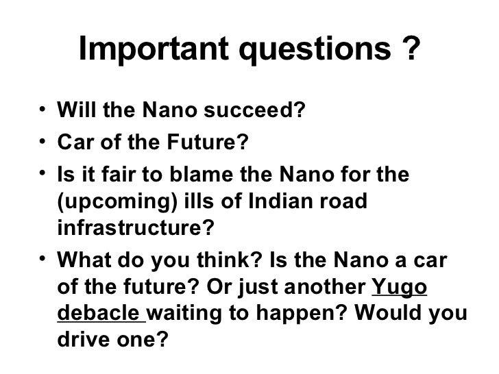 tata nano case study questions