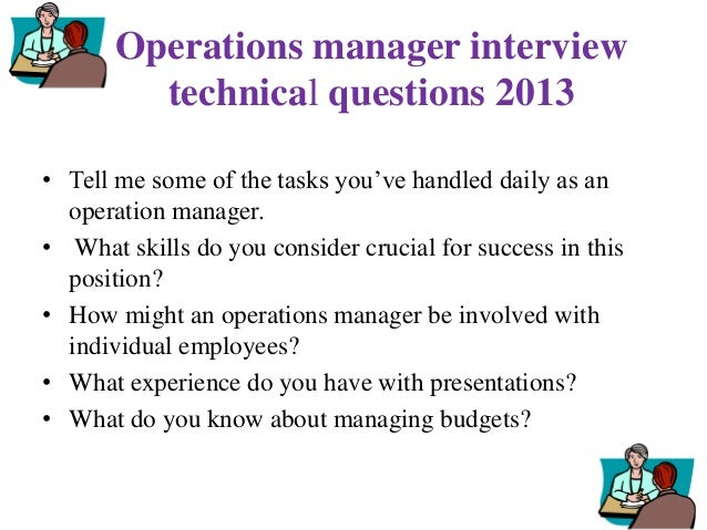 technical manager interview questions