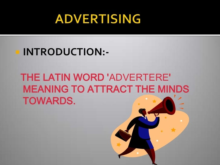 Presentation On Terminology Of Advertising