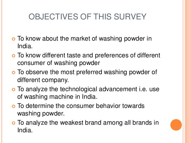 objectives of market survey