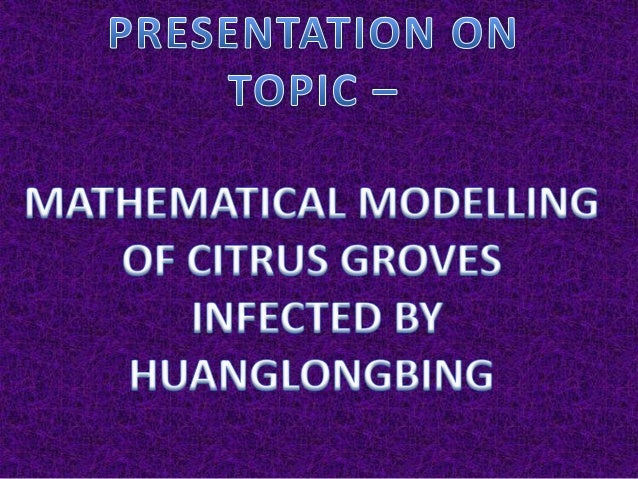 ABSTRACT • Huanglongbing (citrus greening) is a bacterial disease that is threatening the citrus industry worldwide. An in...