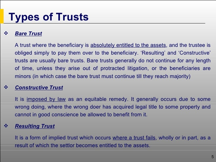 resulting trust example