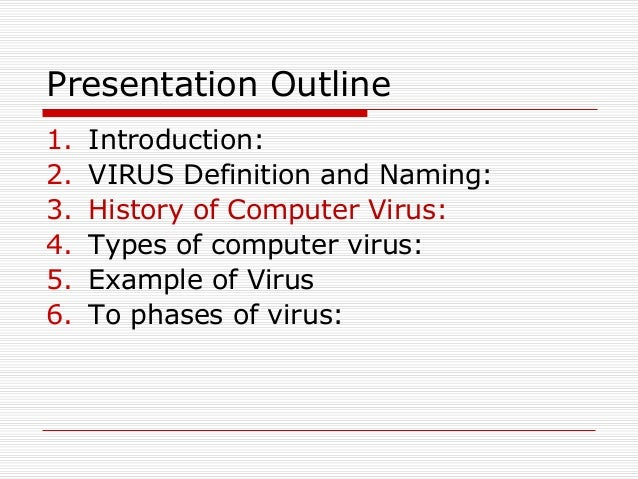 Presentation on virus