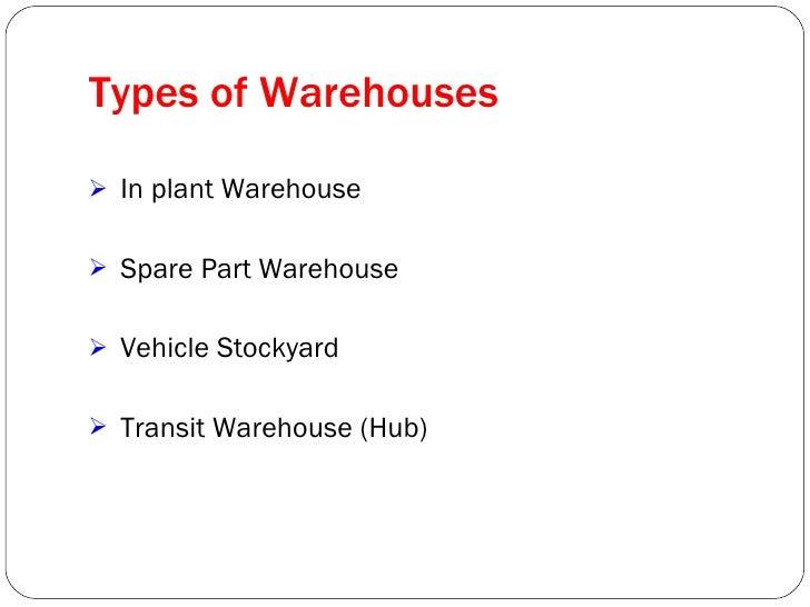 Presentation On Warehousing