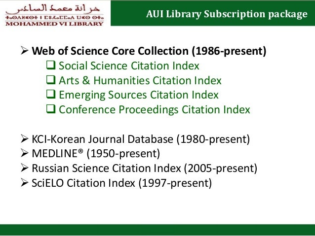 Presentation on web of science m vi library