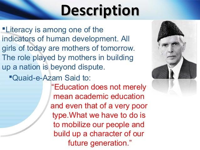 Presentation on women education in Pakistan
