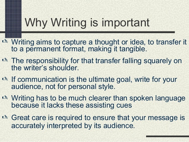 how to develop good writing skills
