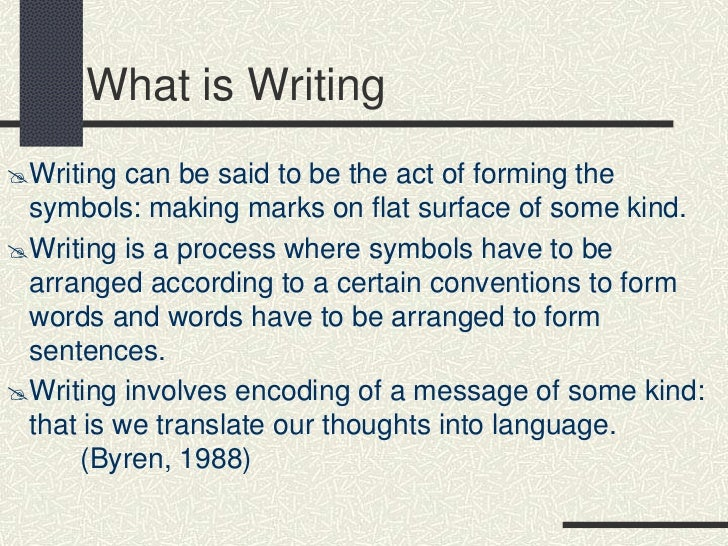 Have it in writing
