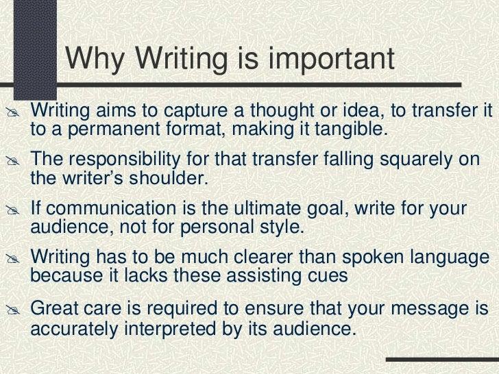 types of written presentation